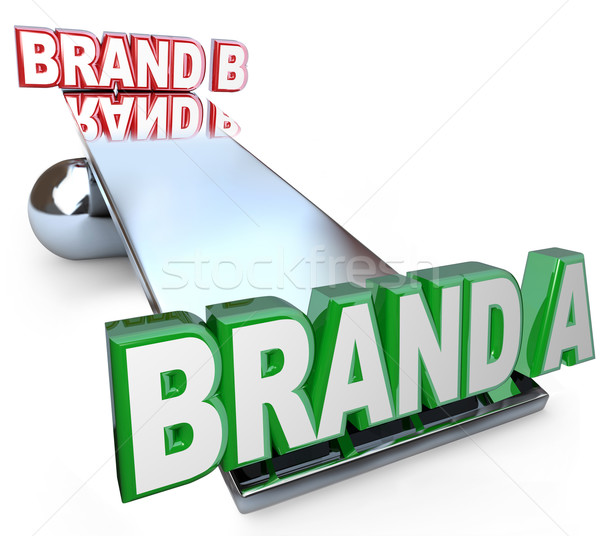 Weighing Benefits of Two Brands Choosing Best Product Stock photo © iqoncept