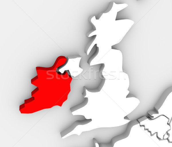 Ireland Abstract 3d Map United Kingdom European Countries Stock photo © iqoncept
