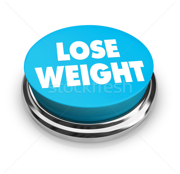 Lose Weight - Blue Button Stock photo © iqoncept