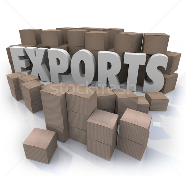 Exports Cardboard Boxes International Trade Warehouse Stock photo © iqoncept