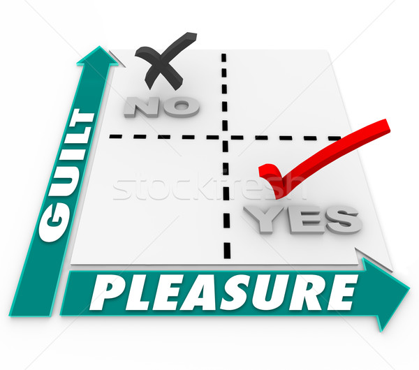 Guilty Pleasure Matrix Choices Guilt Vs Gratification  Stock photo © iqoncept