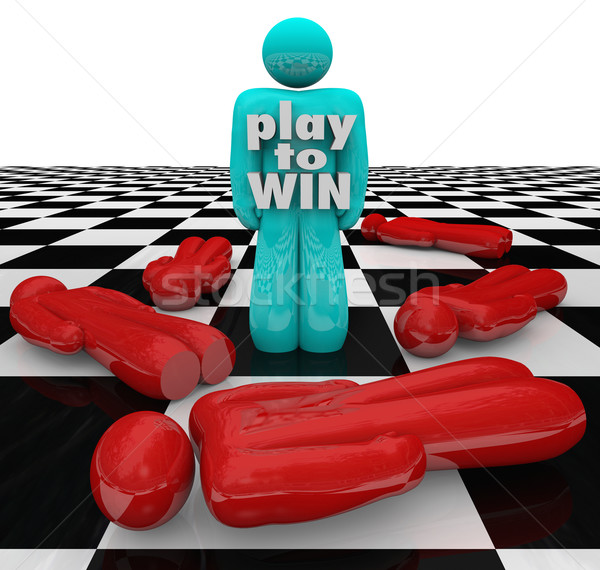 Play to Win Person Last One Standing Winner Game Stock photo © iqoncept
