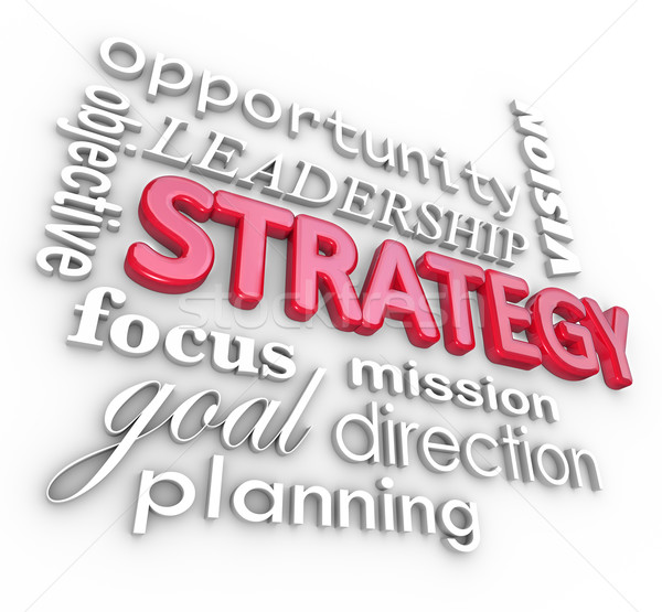 Strategy Word Collage Planning Goal MIssion Stock photo © iqoncept