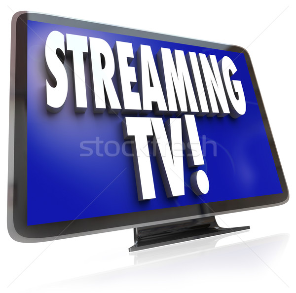 In streaming tv hdtv set online internet Foto d'archivio © iqoncept