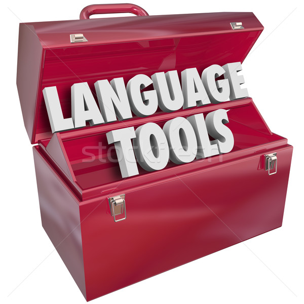 Language Tools Toolbox Words Foreign Dialect Learning School Stock photo © iqoncept