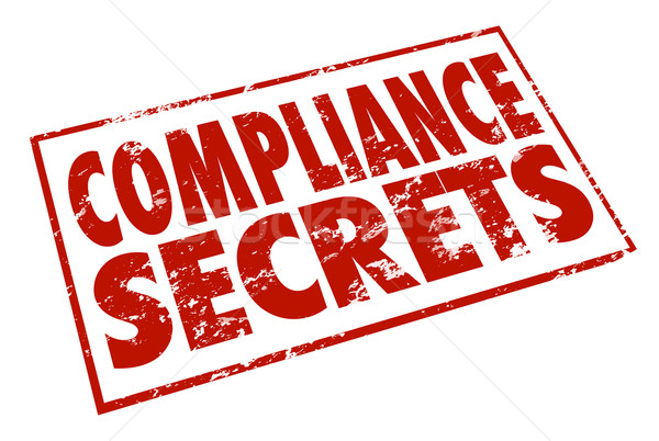 Conformité secrets rouge tampon conseil conseils Photo stock © iqoncept