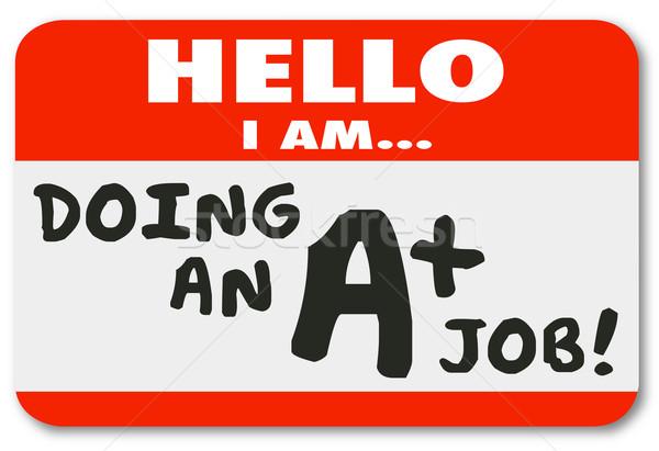 Hello délelőtt meg állás pontszám névtábla Stock fotó © iqoncept