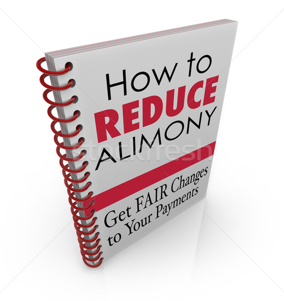 How to Reduce Alimony Payments Book Legal Advice Lower Spousal S Stock photo © iqoncept