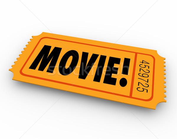 Movie Ticket Admission Pass Admit Access Cinema Film Stock photo © iqoncept