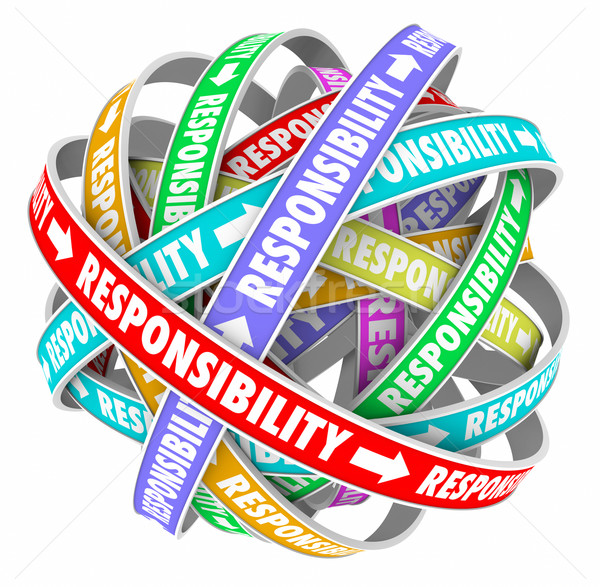 Responsibility Word Delegating Passing Off Jobs Tasks Duties to  Stock photo © iqoncept