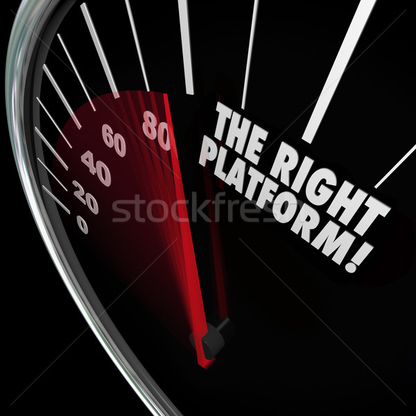 The Right Platform Speedometer Choose Best System Process Manage Stock photo © iqoncept