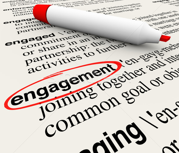 Engagement Dictionary Definition Word Circled Employee Audience  Stock photo © iqoncept