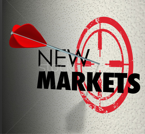 New Market Words Targeted Increase Grow Business Sales Stock photo © iqoncept
