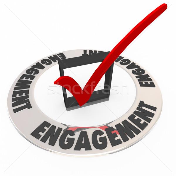 Compromiso comprobar cuadro anillo audiencia Foto stock © iqoncept