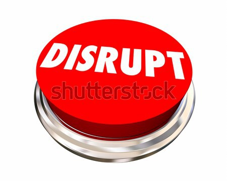 Disrupt Button Shake Up Innovate Make Change 3d Illustration Stock photo © iqoncept