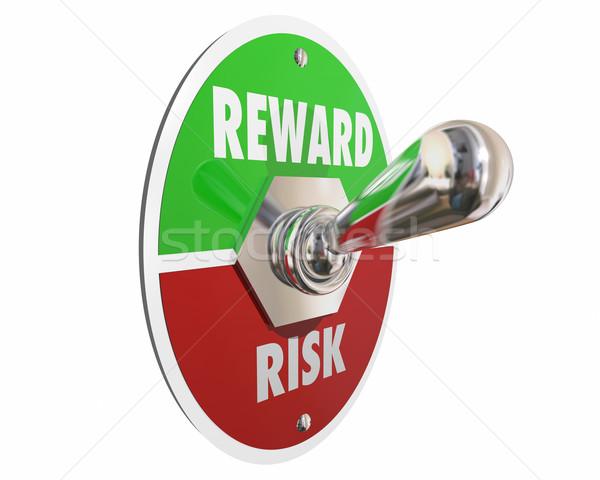 Risico vs belonen terugkeren investering schakelaar Stockfoto © iqoncept
