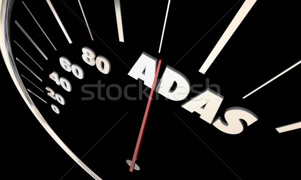 передовой драйвера спидометр 3D 3d иллюстрации Сток-фото © iqoncept