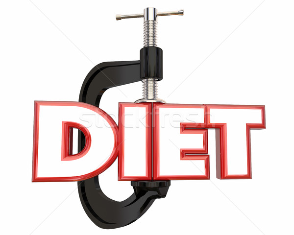 Diet Lose Weight Clamp Vice Word 3d Illustration Stock photo © iqoncept