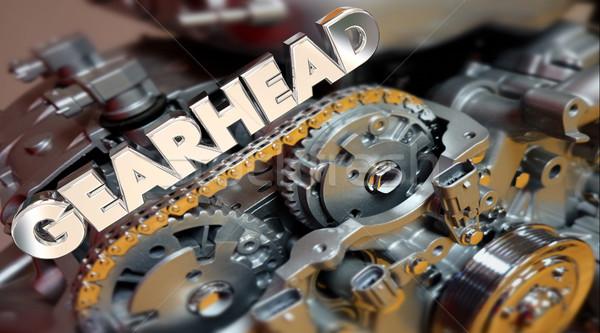 Woord motor tech fan prestaties 3D Stockfoto © iqoncept