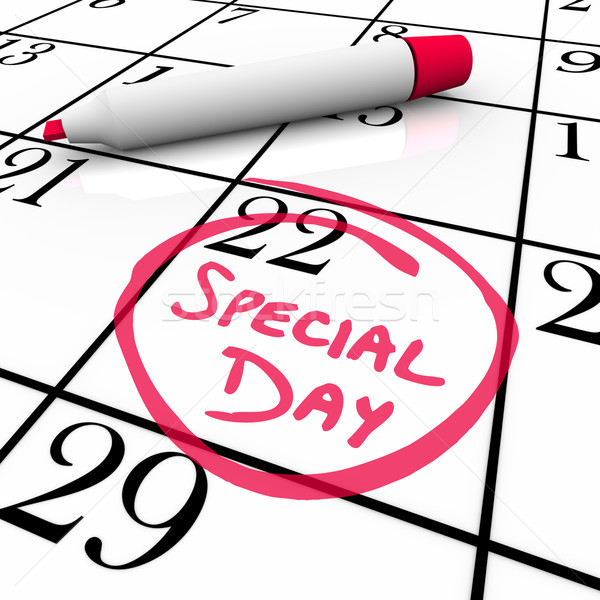 Stock photo: Calendar - Special Day Circled for Anticipated Date