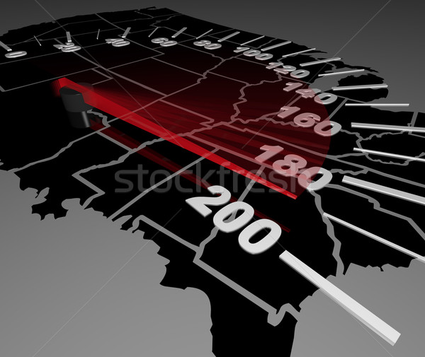 United States of America Map Speedometer Faster Stock photo © iqoncept