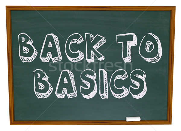 Back to Basics - Chalkboard Stock photo © iqoncept