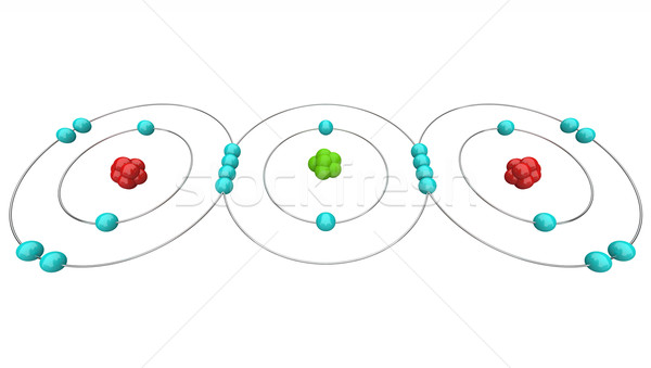 Carbon Dioxide CO2 - Atomic Diagram Stock photo © iqoncept