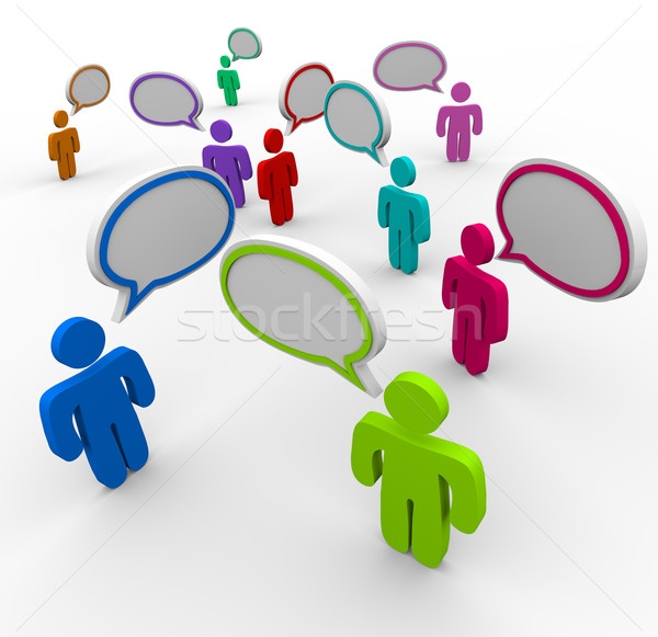 Stock photo: Disorganized Communication - People Speaking at Once
