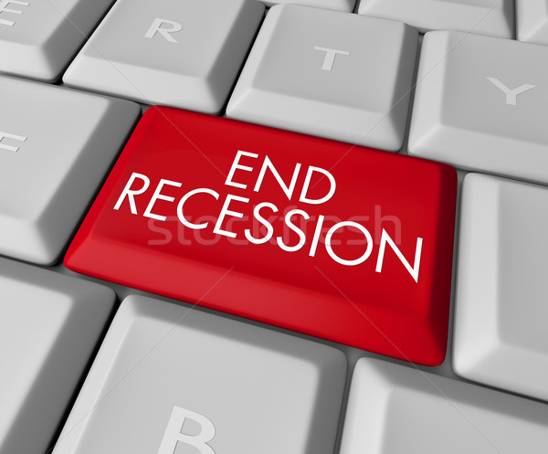 End Recession Key on Computer Keyboard Stock photo © iqoncept