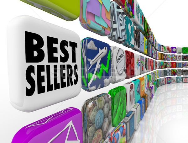 Best Sellers App Ranking List Wall Applications Stock photo © iqoncept