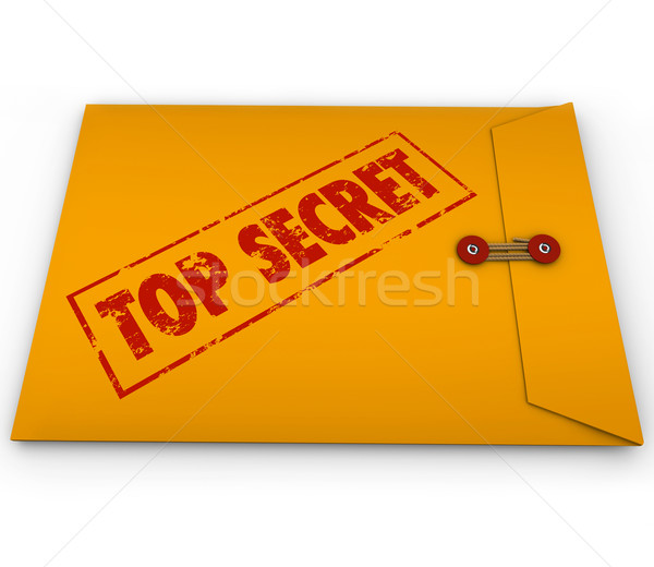Haut secret confidentiel enveloppe informations jaune Photo stock © iqoncept