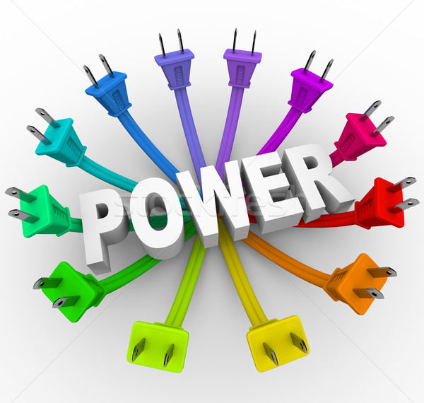 Power - Word Surrounded by Plugs Stock photo © iqoncept