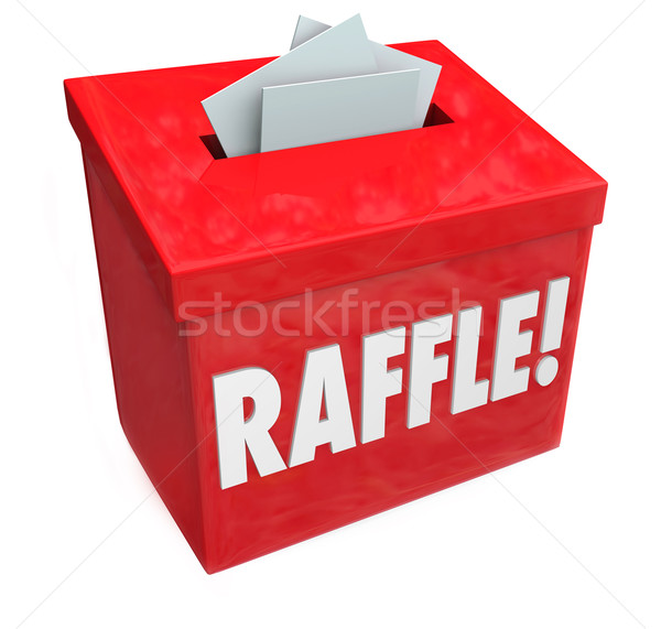 50-50 Raffle Enter to Win Box Drop Your Tickets Stock photo © iqoncept