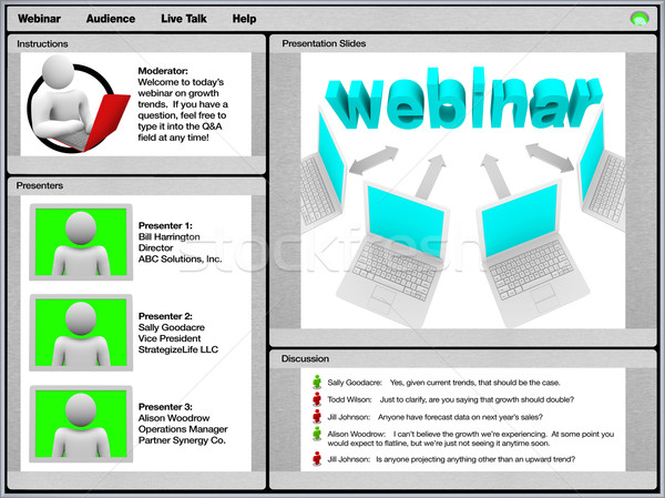 Webinar - Sample Screen Shot Stock photo © iqoncept