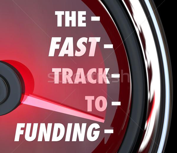Snel track snelheid snel start omhoog Stockfoto © iqoncept