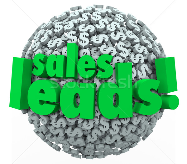 Sales Leads Dollar Sign Sphere Money Converting Prospects Custom Stock photo © iqoncept