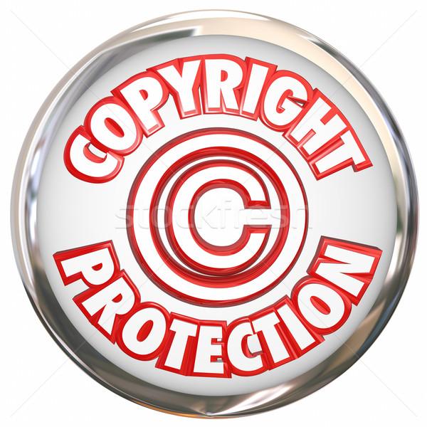 著作権 保護 3D 単語 シンボル アイコン ストックフォト © iqoncept