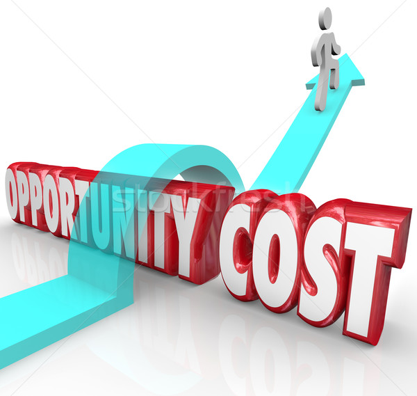 Opportunity Costs Resource Allocation Priority Man Jumping Over  Stock photo © iqoncept
