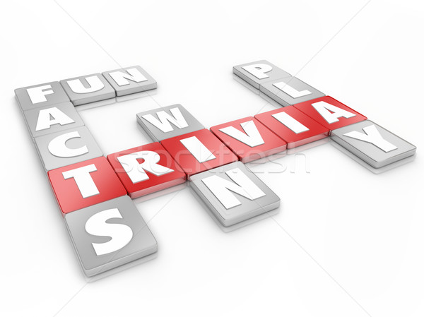 Trivia Word Letter Tiles Game Compete Competition Knowledge Test Stock photo © iqoncept