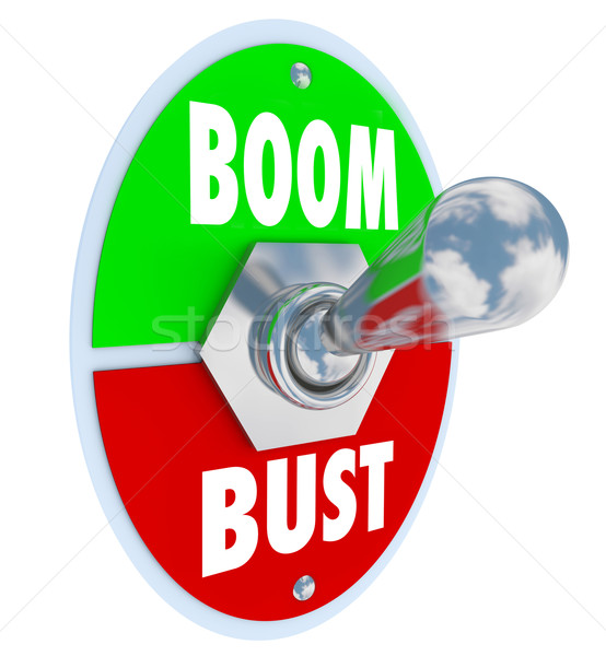 Boom Vs Bust Toggle Switch Turn On Off Economy Success  Stock photo © iqoncept