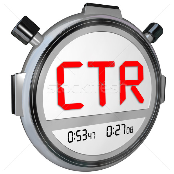 CTR Click Thru Rate Stopwatch Timer Measure Online Results Views Stock photo © iqoncept