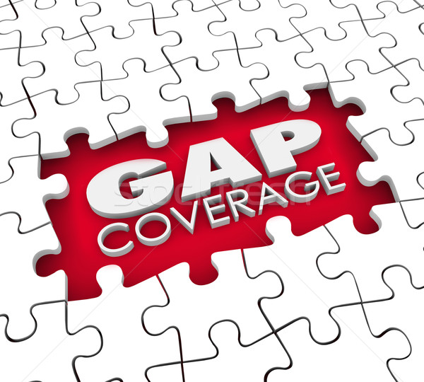 Gap Coverage Insurance Puzzle Policy Hole Supplemental Protectio Stock photo © iqoncept