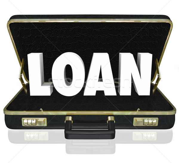 Business Loan 3d Word Briefcase Borrow Start Up Funding Stock photo © iqoncept
