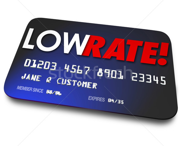 Low Rate Credit Cards Percentage Interest Charges Plastic Paymen Stock photo © iqoncept