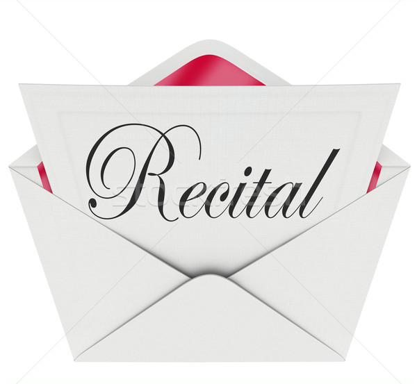 Stock photo: Recital Word Invitation Dance Music Concert Performance Ticket P