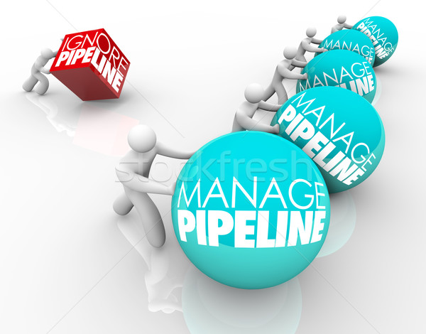 Manage Vs Ignore Sales Customer Pipeline Winning Business Strate Stock photo © iqoncept