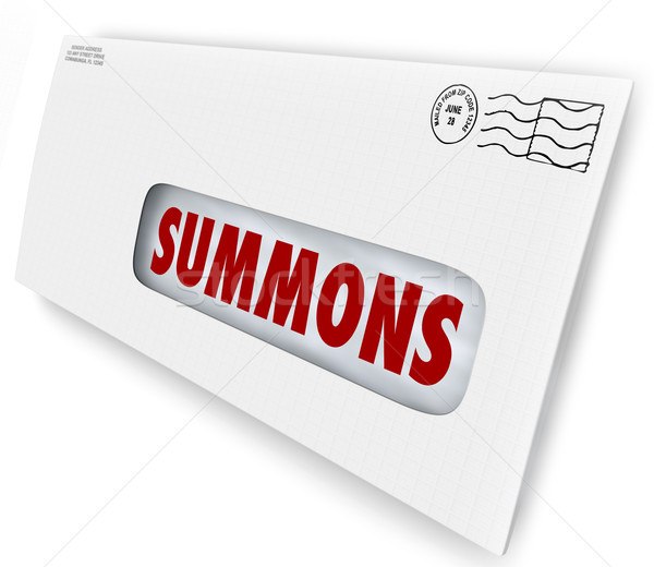 Summons Word Envelope Serving Court Paper Document Lawsuit Appea Stock photo © iqoncept