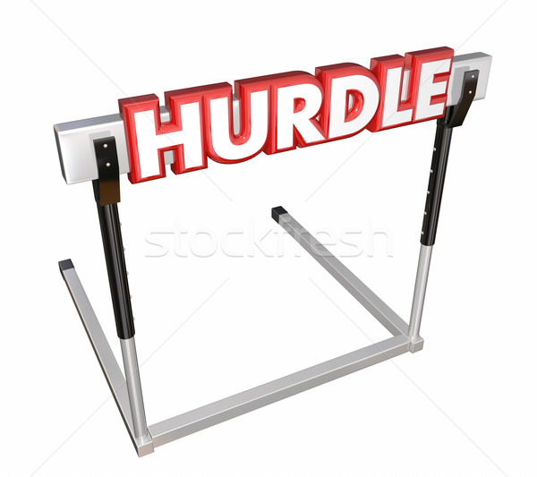 Hurdle Word 3d Red Letters Obstacle Overcome Challenge Stock photo © iqoncept