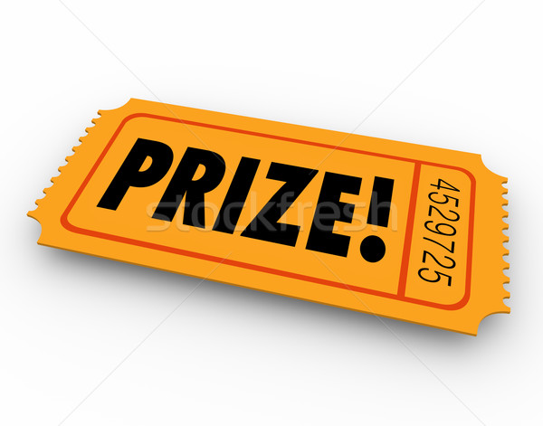 Prize Winning Ticket Award Raffle Drawing Stock photo © iqoncept