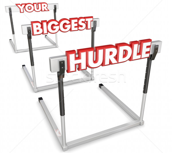 Your Biggest Hurdle Challenge Obstacle Difficult Problem Overcom Stock photo © iqoncept